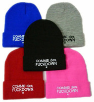 Wholesale 20pcs hot fashion womens mens brand caps SSUR COMME DES FUCKDOWN beanie hats casual sports cols