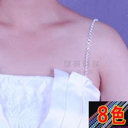 Wholesale Rhinestone Crystal wedding bridal jewelry bridal crystal bra metal tassel spaghetti belt strap