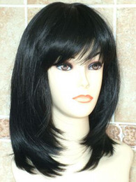 Wholesale HIGH HEAT RESISTANT LONG CURLY LADIES WOMENS WIGS WIG OFF BLACK A105