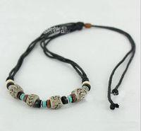Bohemian adjustable choke - 15 off Lovers Ethnic Hemp Adjustable Necklace Choke Jewelry Ceramics Bead