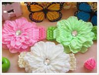 1-50piece/lot ban clip - Hair Satin Flower Hair Clip Knit Headband Girl s Flower Hair Elastic Ban