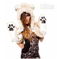 Wholesale 2013 New Arrival Fashion Leopard Hats Lady Scarves amp Gloves Beauiful Woman scarf hat Gloves