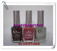 Cheap 2013 DIY Chameleon Nail Polish 3pcs set 15ml Bling Nail Polishes Glitter Nail Lacquer Freeshipping