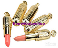 Wholesale Luxury Golden Lipsticks Red Liprouge Pink Lip Rouge Colors Freeshipping Makeup Lip Gloss Gifts