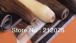 Wholesale 16 quot quot Various color selection High grade Hand Hook Skin Weft Brazilian straight hair