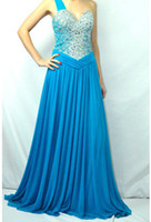 Wholesale Terani Couture P1504 Peacock Blue Chic Sweetheart Gown Prom Dress Formal