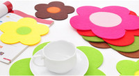 Wholesale Colorful sunflower Dinner Coaster Sweet Home Kitchen Decoration Accessories Plate Coaster