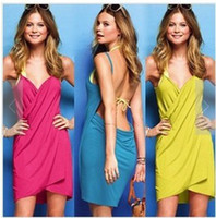 Wholesale EXY BIKINI COVER BEACH DRESS swimwear drop shipping W1297