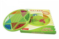 Wholesale Disc Draw Lines Wooden Hex Checkers Children s Toys Baby Toy