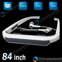 Wholesale 84 inch Virtual Screen Resolution Eyewear iWear2 Dynamic Video Glasses for iPod iPhone ipad