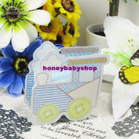 Favor Boxes Blue Paper 2013 new style baby favor box