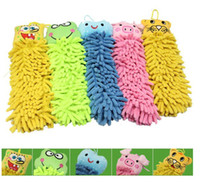 Wholesale Mixstyles Microfiber cartoon kitchen hand towel suspension type microfiber chenille Strong Absorbent