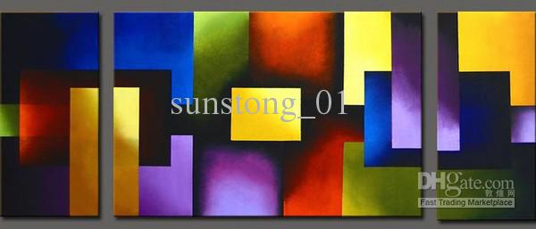 2017 Modern Colorful Art Oil Group Painting Home Decorative Painting Completely Handmade Oil Paintings From Sunstong 01 31 36 Dhgate Com