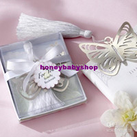 Wholesale Butterfly Silver Metal Bookmark with Silk Tassel set of