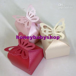 Wholesale Butterfly Top Favor Boxes Set of colors Butterfly box