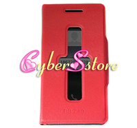 Wholesale 100pcs New Design Stand Filp Leather Case With Caller ID display function Cover For Blackberry Z10