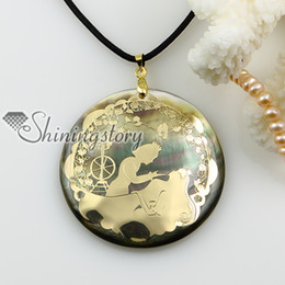 round shell pendants wholesale mother of pearl jewelry Handmade necklace Mop1156TC0 cheap china fashion jewelry