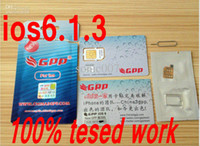 Wholesale 100 Genuine GPP turbo Sim Unlock iPhone S iphone4s ios6 ios CDMA GSM Sprint Verizo AU