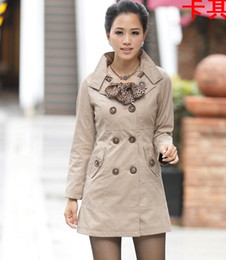 Wholesale trench coat Fashion trench Women double breasted outerwear h277