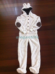 Wholesale Ladies Teddy Bear Onesie Pajama Fully lined