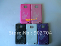 Wholesale 10pcs Laser Flower Hard cell mobile phone case for Samsung Galaxy S I9100