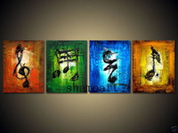 Cheap 100%handmade Note Art Oil Painting wall decorate on canvas231