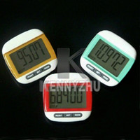 Wholesale Free DHL Fashion Jumbotron LCD Display Multifunctional Digital Pedometer Passometer I Multicolor