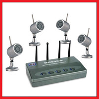 Wholesale 2 G Wireless CH Real Time Video Receiver DVR Security Surveillance System w IR Night Cameras