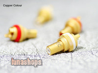 Adapter HiFi  Copper Colour CC RCA Female Audio DIY Solder Adapter for 1pcs Red copper or gold