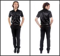 Casual Men Silk New Popular Elastic Silk like Satin Men Wedding Groom Shirts 9 Colors Bridegroom Shirt G789
