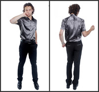 Casual Men Silk 2013 Popular Elastic Silk like Satin Men Wedding Groom Shirts 9 Colors Bridegroom Shirt G790