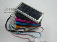Wholesale High Quality mAh Solar Charger USB Power Panel Battery Flashlight for G MP3 MP4 PDA Mobile Phon