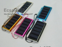 Wholesale Brand New mAh Solar Charger USB Power Panel Battery Flashlight for G MP3 MP4 PDA Mobile Phone Multi color
