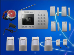 Wholesale NEW MOST ADVANCED zone auto dial WIRELESS HOME OFFICE SECURITY ALARM SYSTEM with LED display H313