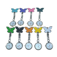 Wholesale 50 The popular watch medical nurse smiling face pocket watch fashionable butterfly design utop2012