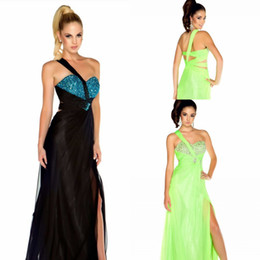 Wholesale Wow Factor Best Selling One Shoulder Open Back Sexy Prom Dress Party Gown Chiffon Fabric Customize