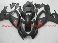 Wholesale Injection for matte black SUZUKI GSXR GSX R600 GSX R750 K6 full fairing kit