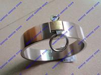 lock collar - 1pcs xsextoy Female Locking collar Stainless Steel plum lock Collar Dog Collars plum lock