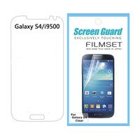 Wholesale High Clear Screen Protector For Galaxy S4 I9500 JAPAN PET Guard Flim with retail pack HKpost
