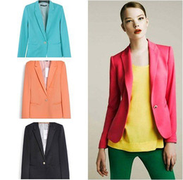 Wholesale Z new hot stylish and comfortable women s Blazers Candy color lined with striped Z suit W4100