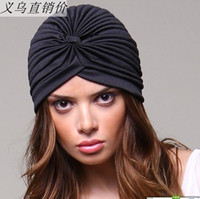 Wholesale Top Fashion Muslim Cap ear pullover covering cap turban hat hip hop dance party hat