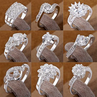 Wholesale Charm Diamond Rings Nice Girls Best Choice Shining Rings silver Jewelry Hot