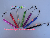 Wholesale Metal Aluminum Touch Stylus Pen anti dust plug for iphone G GS G S G ipod IPAD