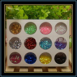 Wholesale 12 Color Glitter Nail Spangles Flake Powder Art Decoration D UV GEL Hexagon Shiny X10