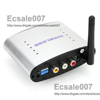 Wholesale HOT Ghz Wireless A V Transmitter Receiver Audio Video Share Av Tv Pal Ntsc