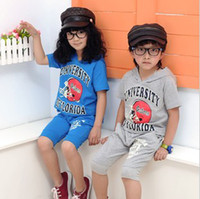 Wholesale two colors football cap printing children s suits kids outfits amp sets