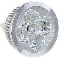 Wholesale 50pcs MR16 W Lumen Energy Saving LED Metal Bulb Light Lamp with GU5 Bipin Cap AC DC V
