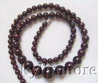 Wholesale 8SE08342a mm mm Natural Garnet Round Beads quot