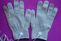 Wholesale Anti static anti skid breathe freely conductive silver fiber gloves used with EMS TENS massager