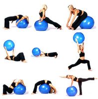 Wholesale 65cm Exercise Fitness Aerobic Ball For GYM YoGa Pilates Pregnancy Birthing Swiss inflated pump D026